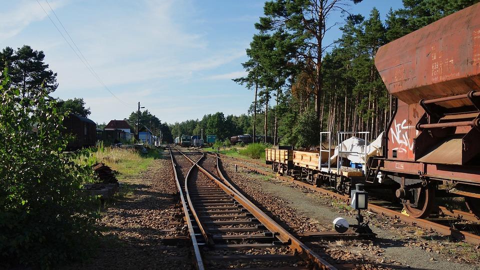 Rails, Wagon, Train Station, Historic Railroad, Rural