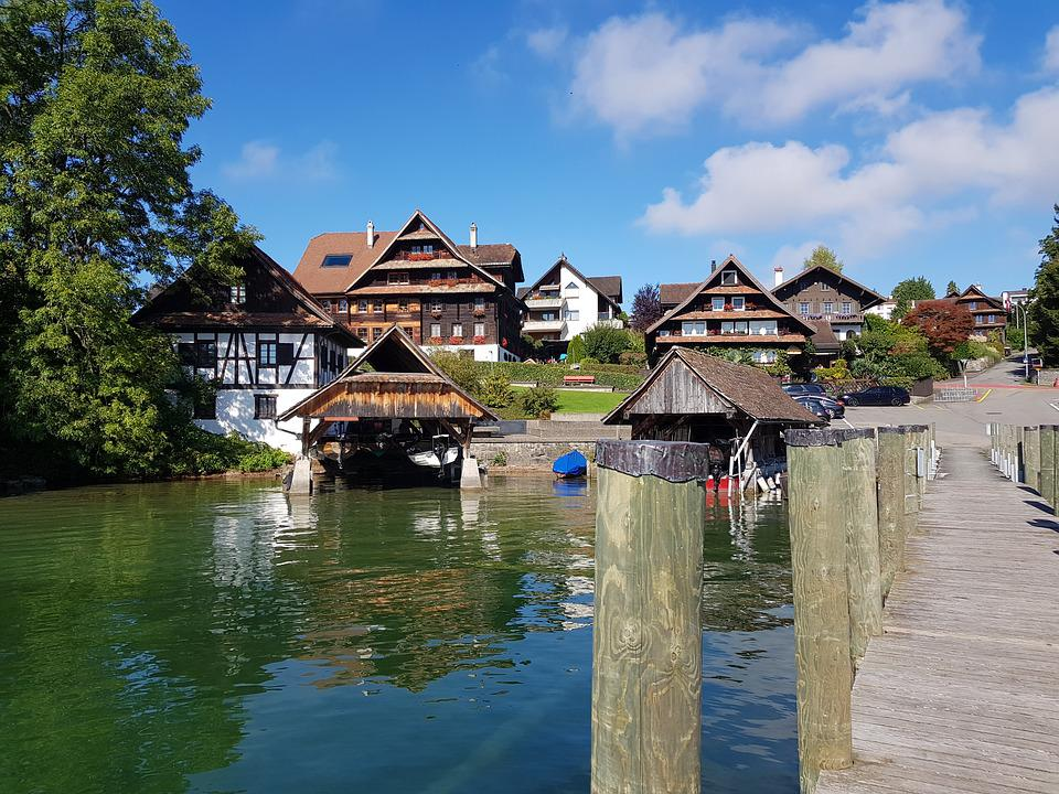 Switzerland, Lakelucerne, Europe, Lucerne, Water, Rural