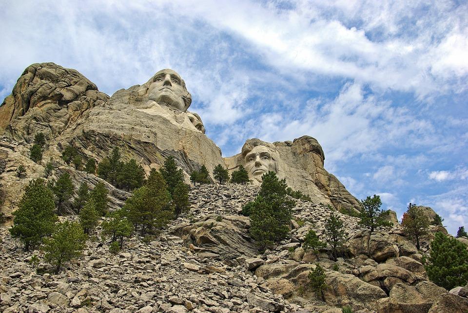 Washington And Lincoln On Rushmore, Rushmore, Lincoln