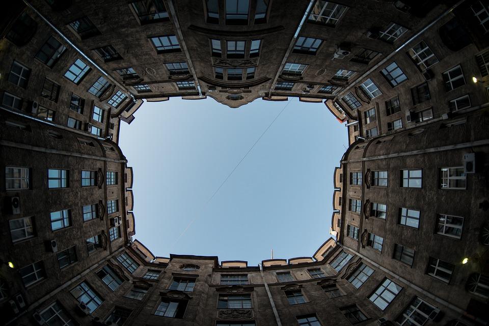 Buildings, Windows, St Petersburg, Russia, Architecture