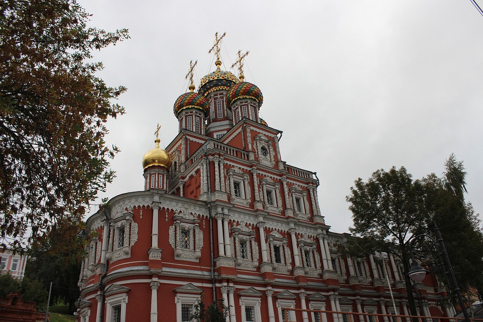 Dome, Russia, Crosses, Cathedral