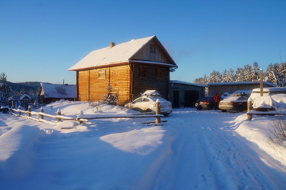 House, Winter, Village, Russia, Landscape, Wooden House