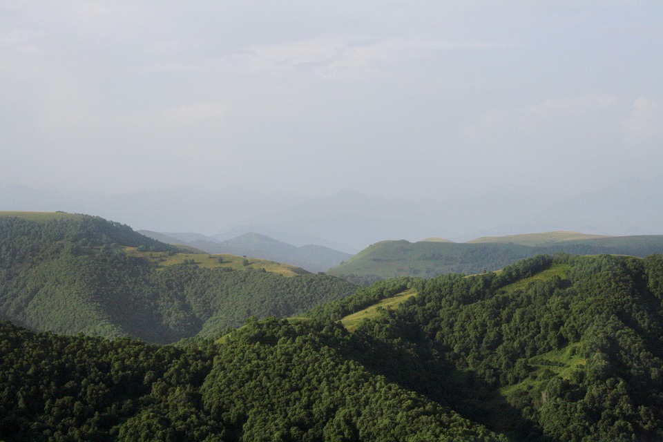 Green, Mountains, Landscape, Nature, Russia, Summer