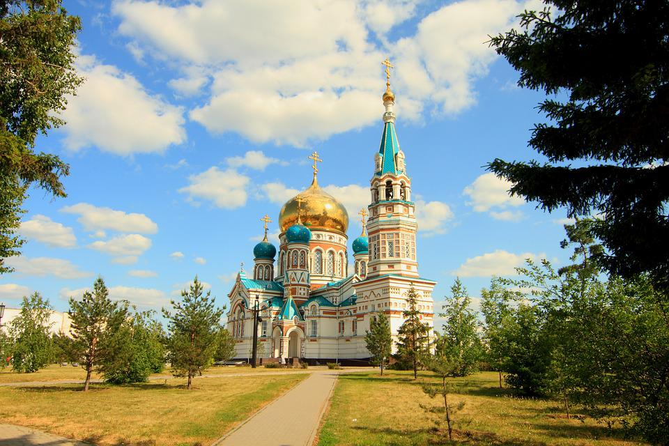 Omsk, Temple, Religion, Church, Architecture, Russia