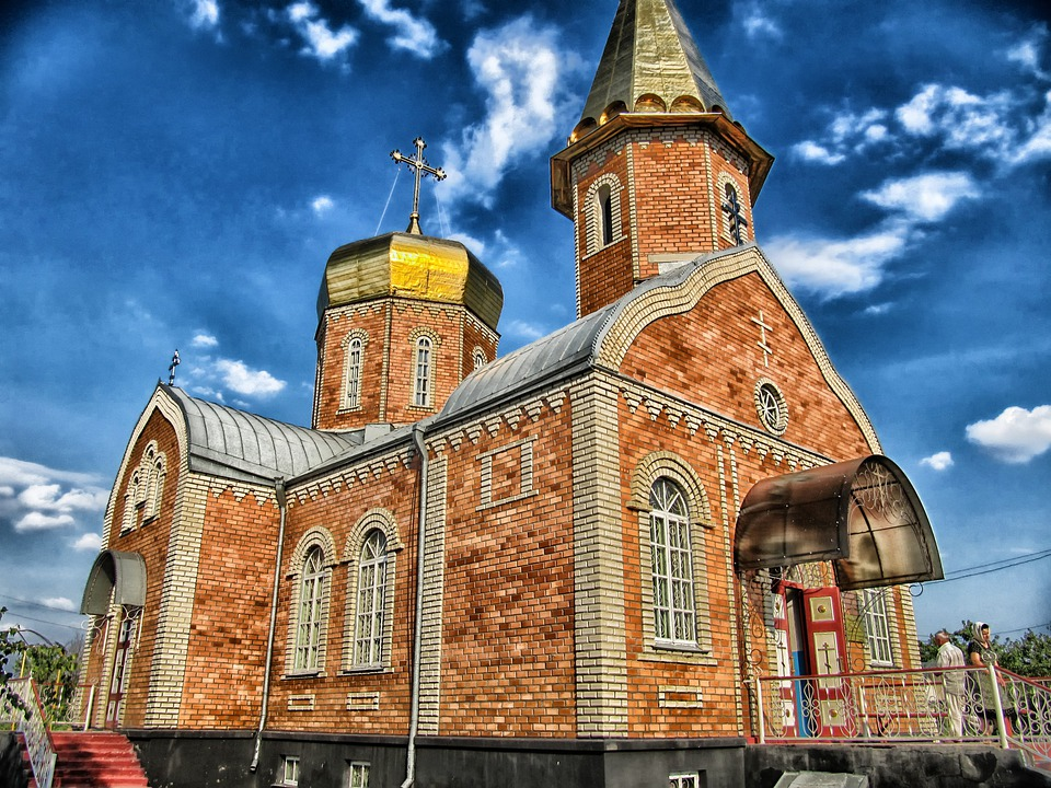 Kalmykia, Russia, Church, Russian Orthodox, Hdr