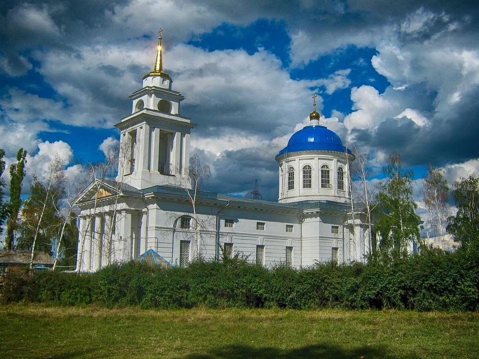 Russia, Church, Sky, Clouds, Building, Architecture