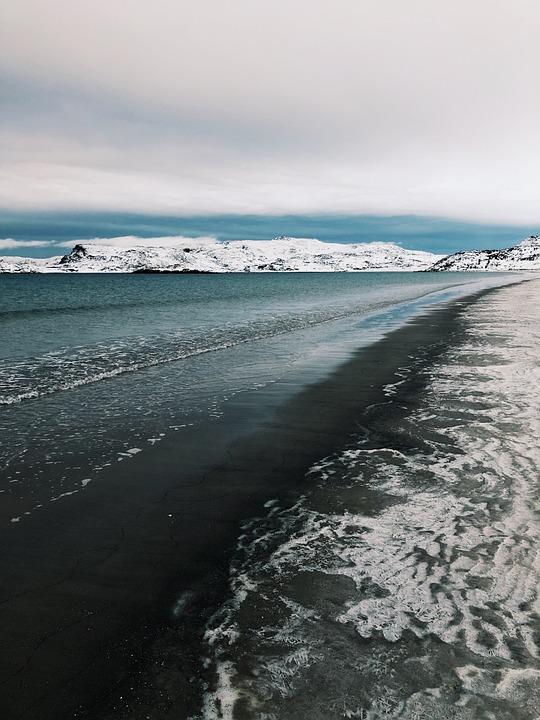 Ocean, Teriberka, Nature, Winter, Travel, North, Russia