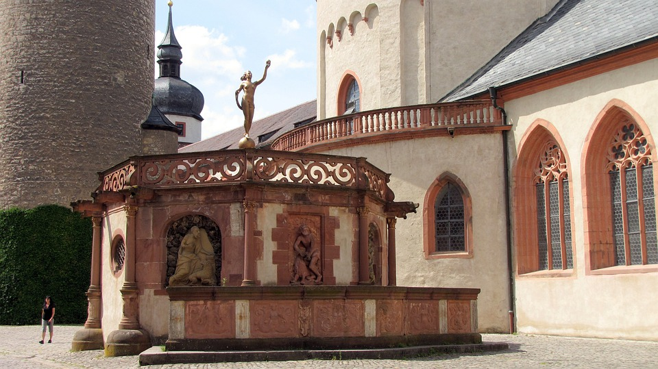 Würzburg, Russian Fortress, Fountain