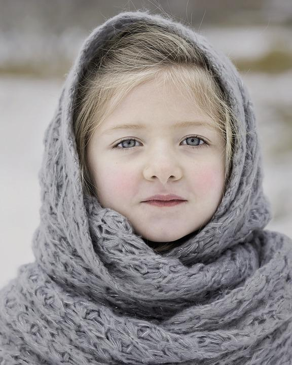 Winter, Scarf, Cold, Season, Girl, Young, Russian