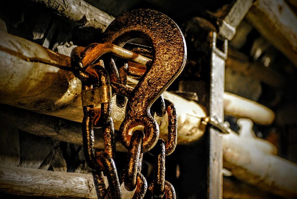 Chain, Carbine, Rust, Screw, Frame, Iron, Metal