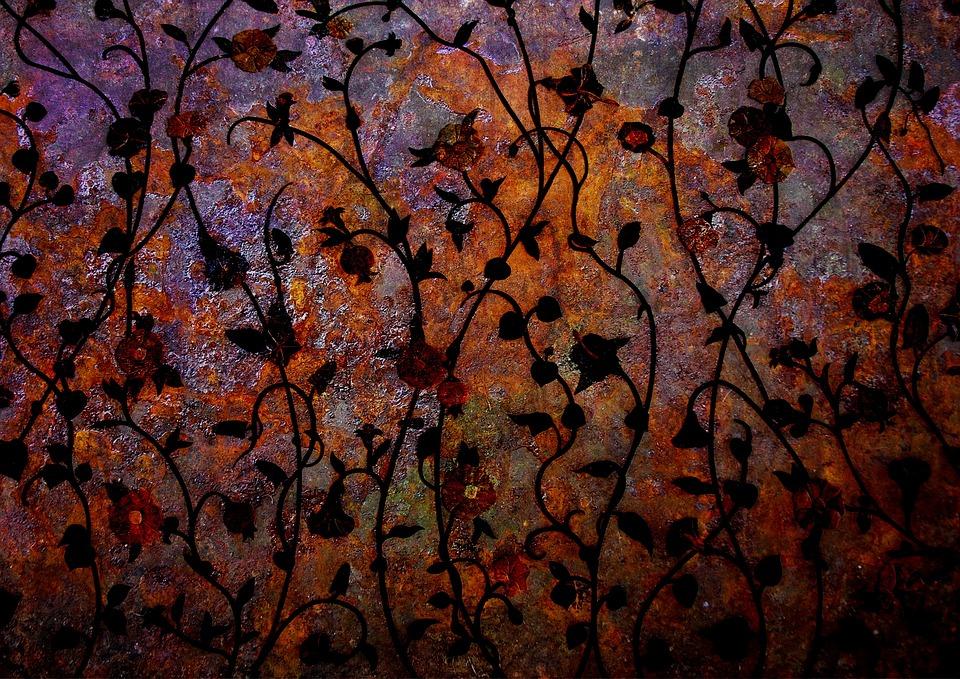 Rust, Flowers, Pattern, Floral, Decorative, Texture