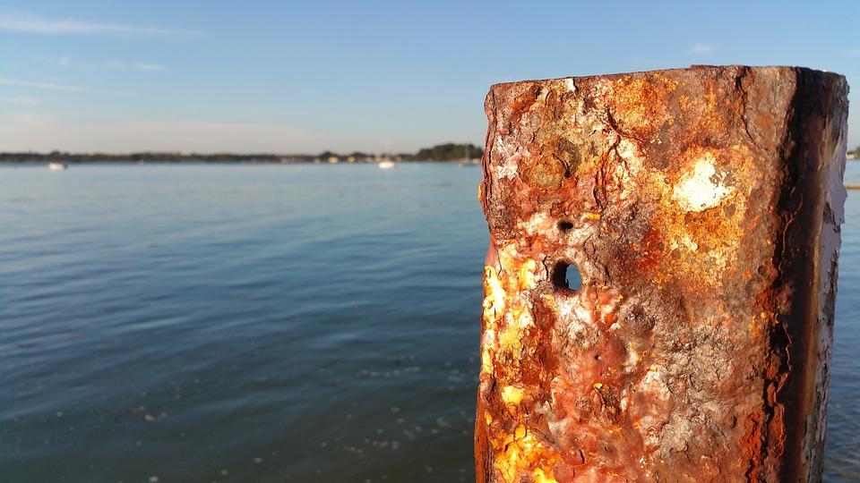 Iron, Metal, Sea, Ocean, Rust