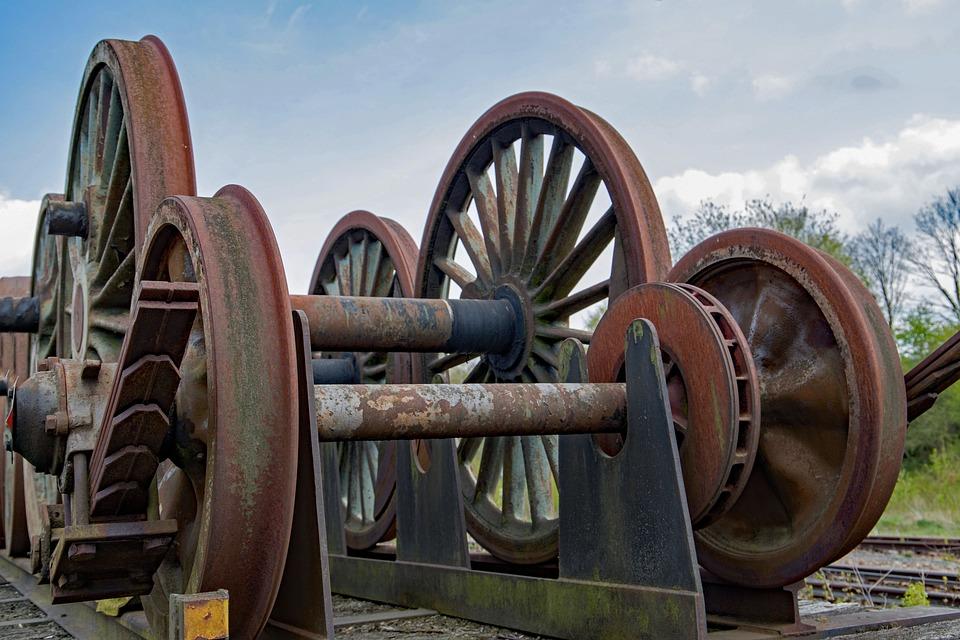 Rail, Wheels, Rust, Train, Rusty, Rusted, Old