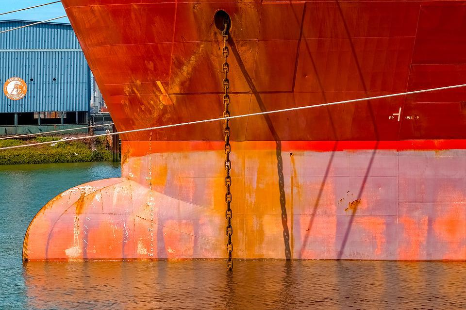 Hull, Rust, Rusted, Boat, Ship, Cargo, Harbour, Port
