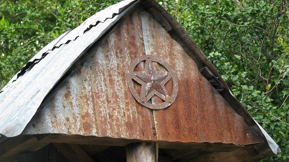 Rust, Star, Shed, Texas
