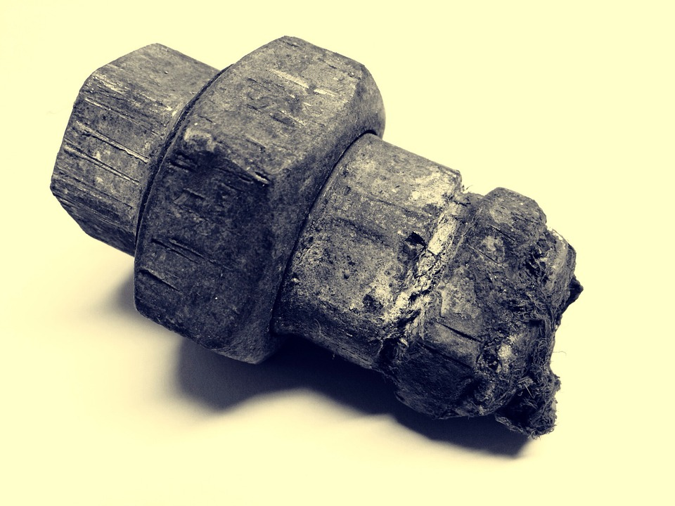 Piece Of Pipe, Broken, Stainless, Iron, Rusted, Metal