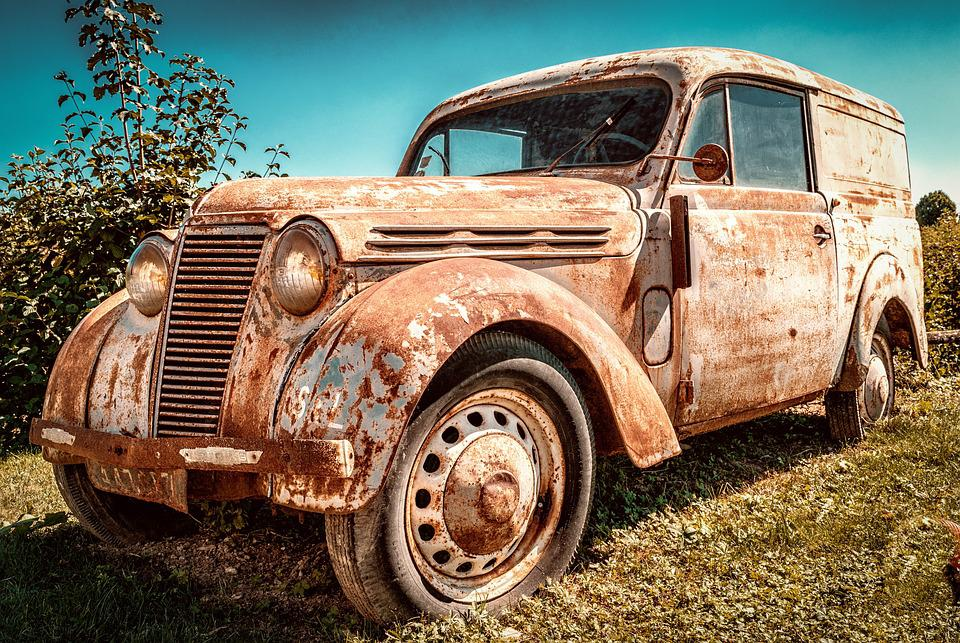 Renault Juvaquatre, Car, Rusty, Abandoned, Rusted