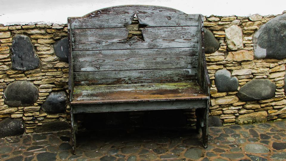 Bench, Wooden, Rustic, Old, Antique, Vintage