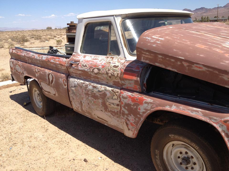 Free photo Rustic Exposed Antique Old Chevy Pickup - Max Pixel
