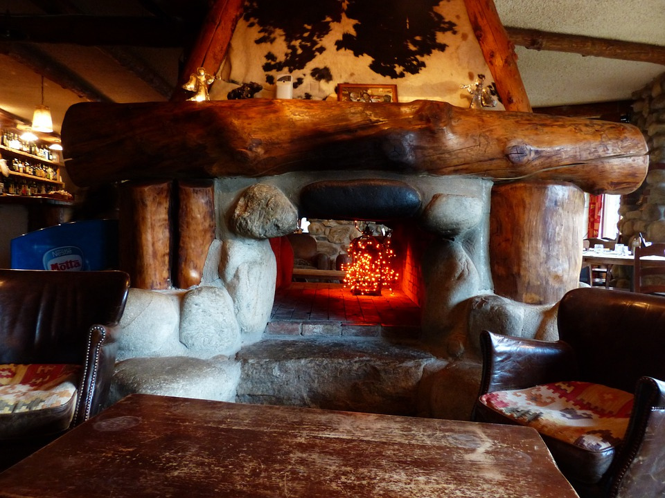 Fireplace, Oven, Open Fireplace, Cozy, Rustic, Warm
