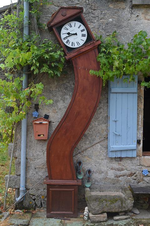 Grandfather Clock, Grapevine, Bendy, Rustic, Wall