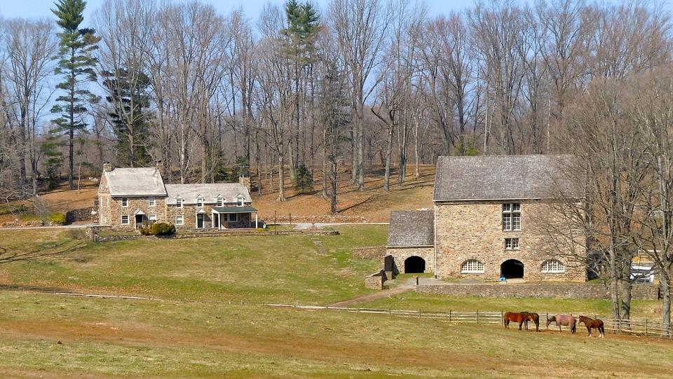 Pennsylvania, Farm, Rural, Rustic, Landscape, Horses