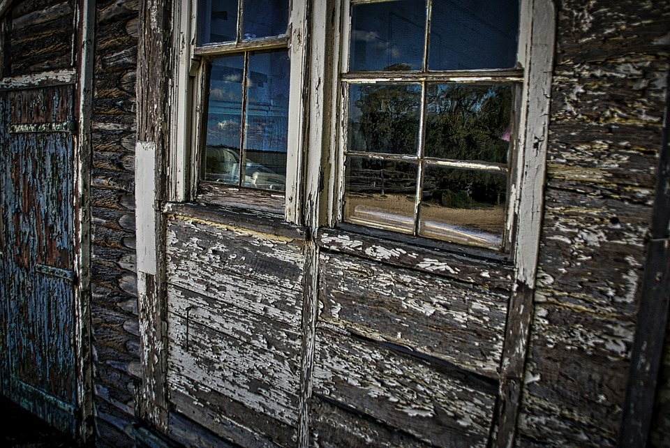 Window, Tattered, Peeling, Paintwork, Rustic, Weathered