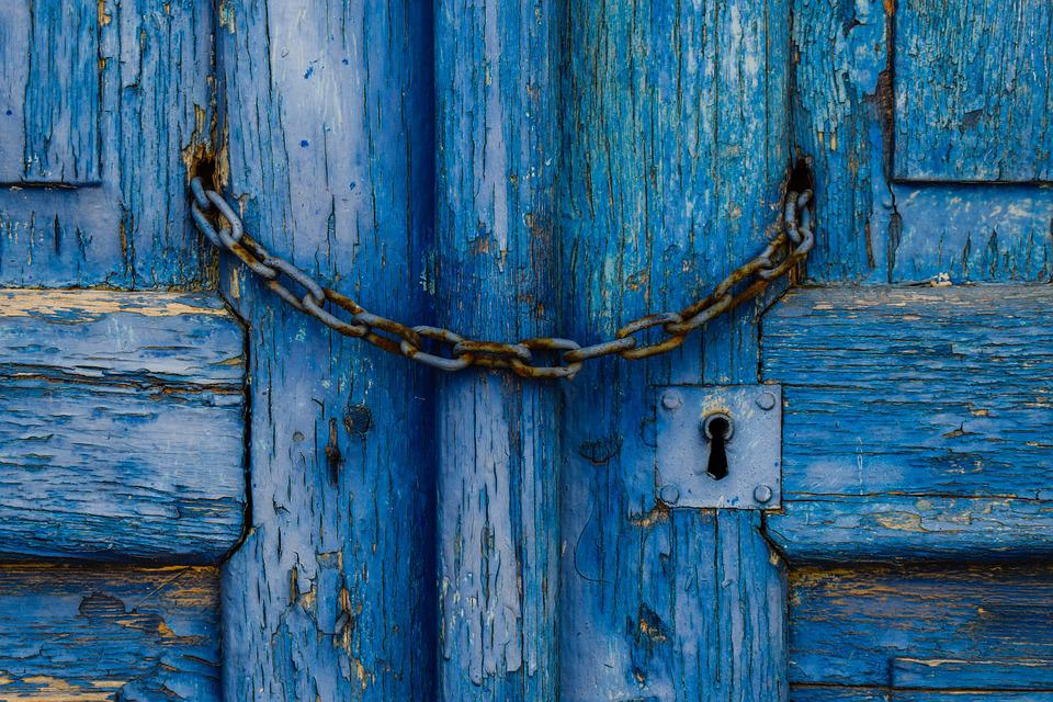 Old Door Wooden Blue Chain Keyhole Aged Rusty & Free photo Rusty Aged Chain Blue Keyhole Wooden Old Door - Max Pixel