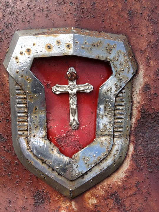 Vintage, Old, Stainless, Rusty, Cross, Antique