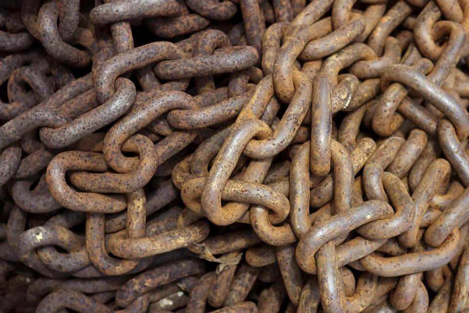 Rusty Chain, Chain, Rusty, Steel, Links, Steel Links