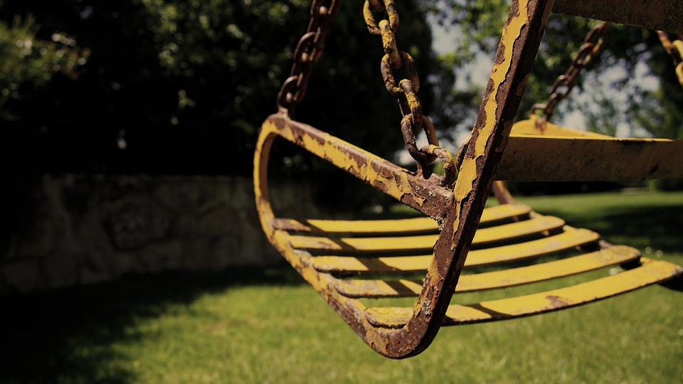 Swing, Old, Oxide, Rusty, Old Times, Childhood, Grow