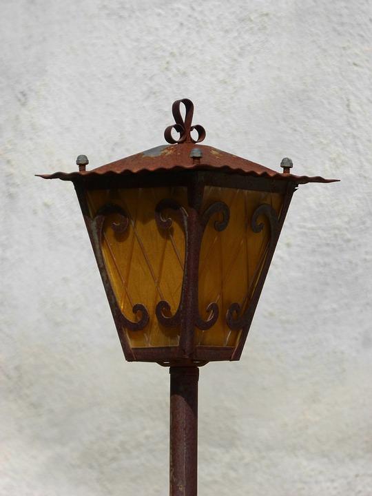Lantern, Old, Rusty, Street