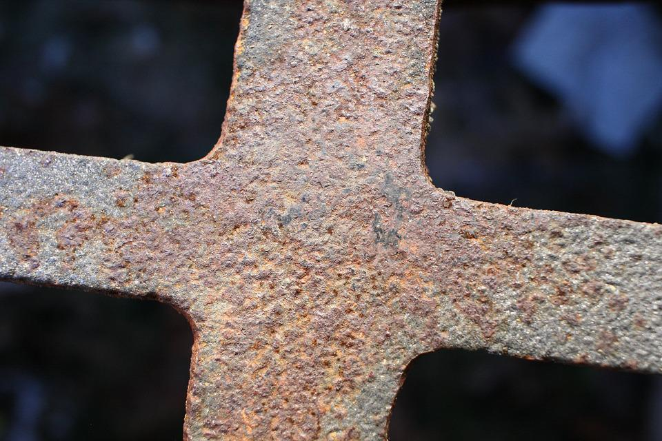 Plumbing, Sewer, Maintenance, Rusty, Metal, Cross