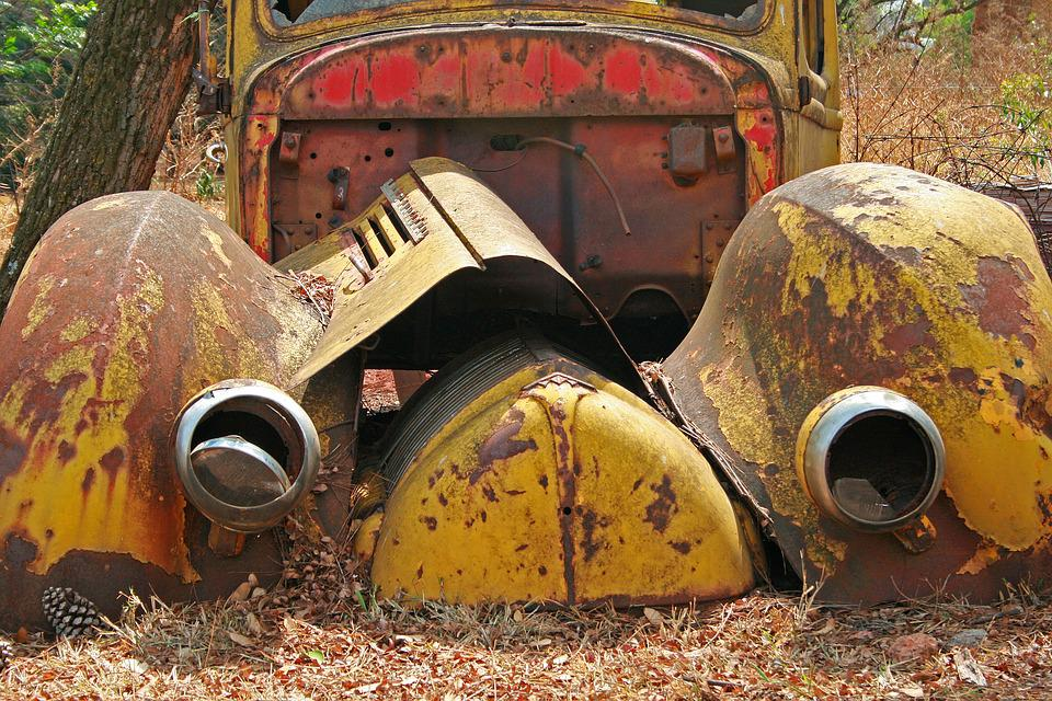 Free photo Rusty Old Car Wreck Abandoned Car Wreck Vintage - Max Pixel