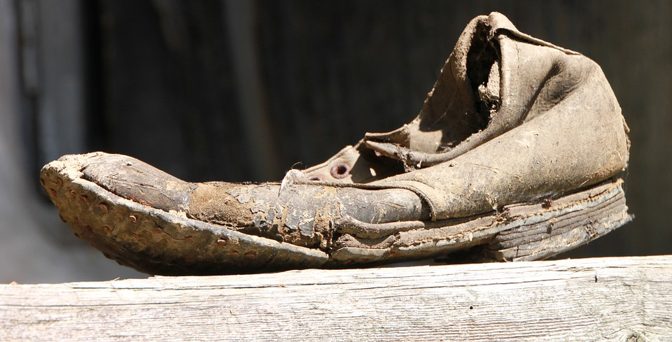 Damage, Dirty, Old, Rusty, Shoes, Clothing