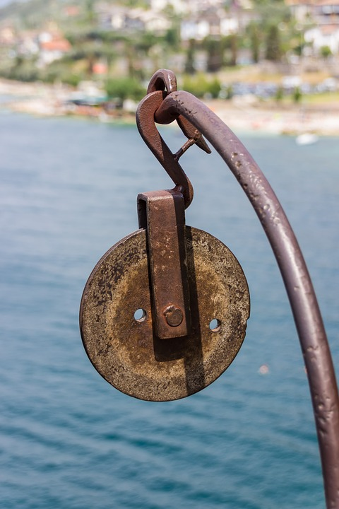 Block And Tackle, Metal, Iron, Tool, Rusty, Old, Rusted
