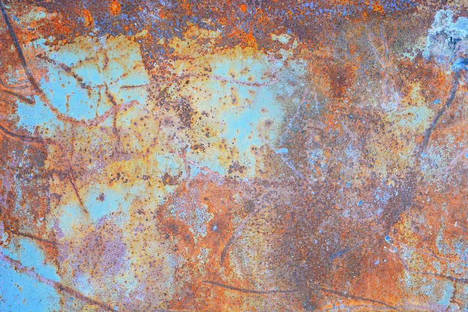 Free photo Rusty Rust Blue Texture Metal Paint Resource Max Pixel