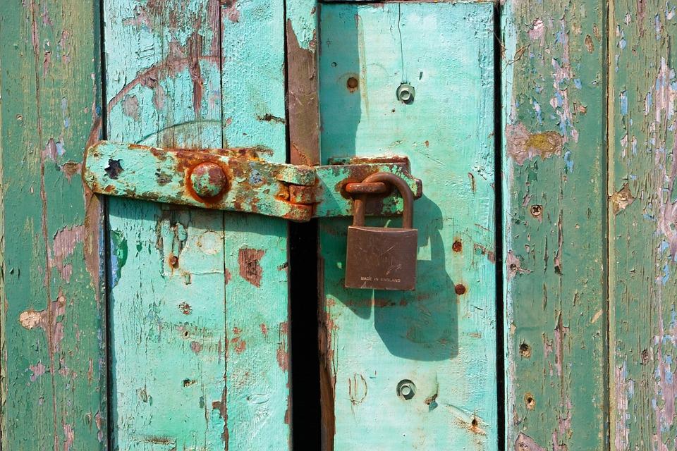 Padlock, Grunge, Rusty, Rusting, Texture, Wood, Wooden
