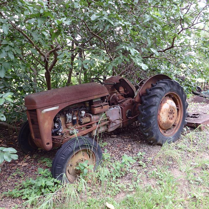 Rustic, Rusty, Old, Tractor, Farm, Machinery, Aged