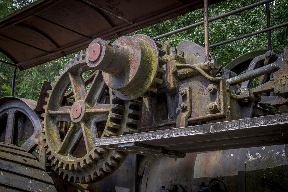 Old, Rusty, Weathered, Gear