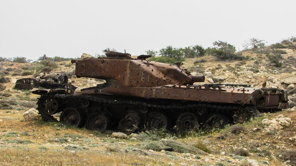Tank, Wreck, Destroyed, Rusty, Old, Practice Target