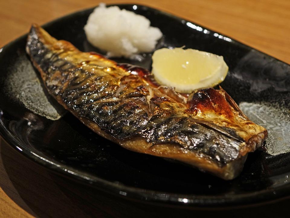 Fish, Lemon, Saba Mackerel Fish, Eat, Delicious, Grill