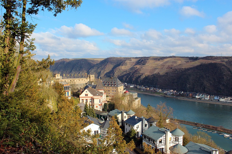 Middle Rhine, Rhine, River, Germany, Sachsen, Romance