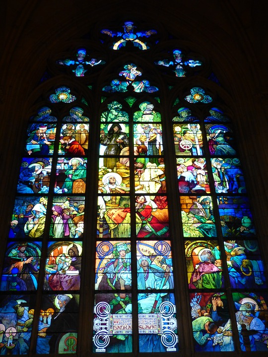 Stained Glass Window, Slide, Window, Sacred, Church