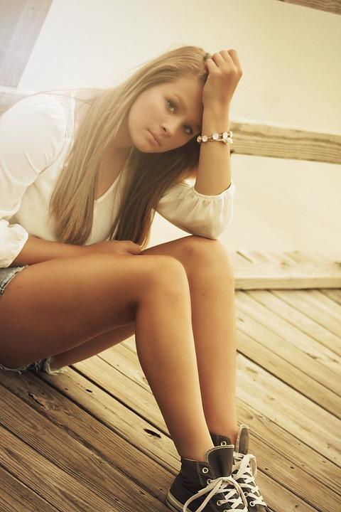 Girl, Teenager, Young, Beautiful, Teen, Expression, Sad
