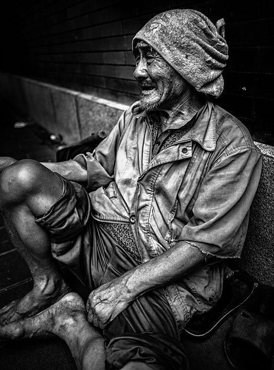 free photo sad life poverty man portrait beggar homeless max pixel