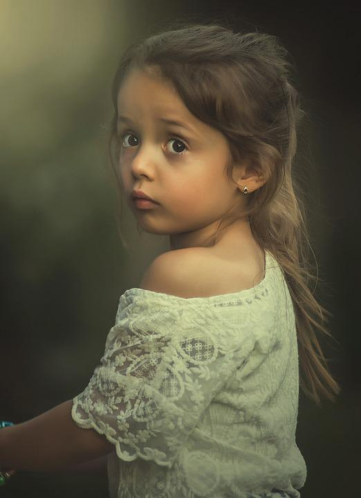 Girl, Sad, Worried, Child, Looking, Eyes, People