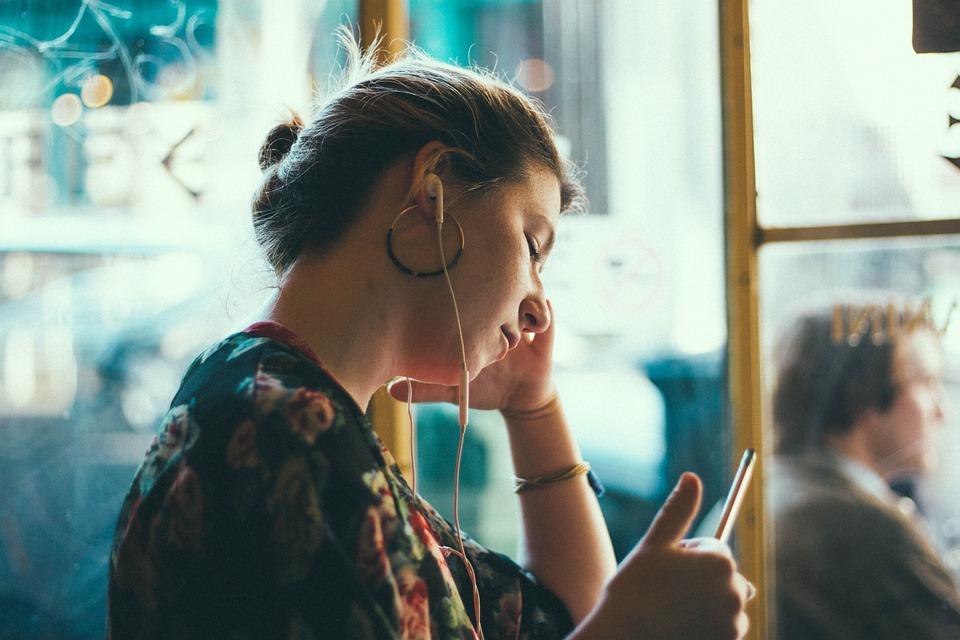 People, Woman, Girl, Sad, Mobile, Phone, Waiting