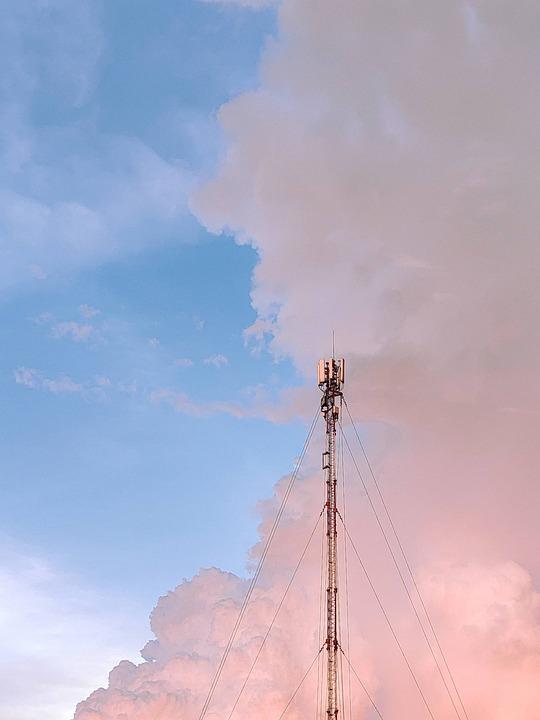 Sky, Clouds, Nature, Antena, Moody, Color, Sadness