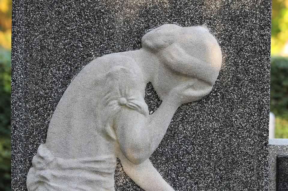 Gravestone, Woman, Sadness, Monument, Memorial, Marble
